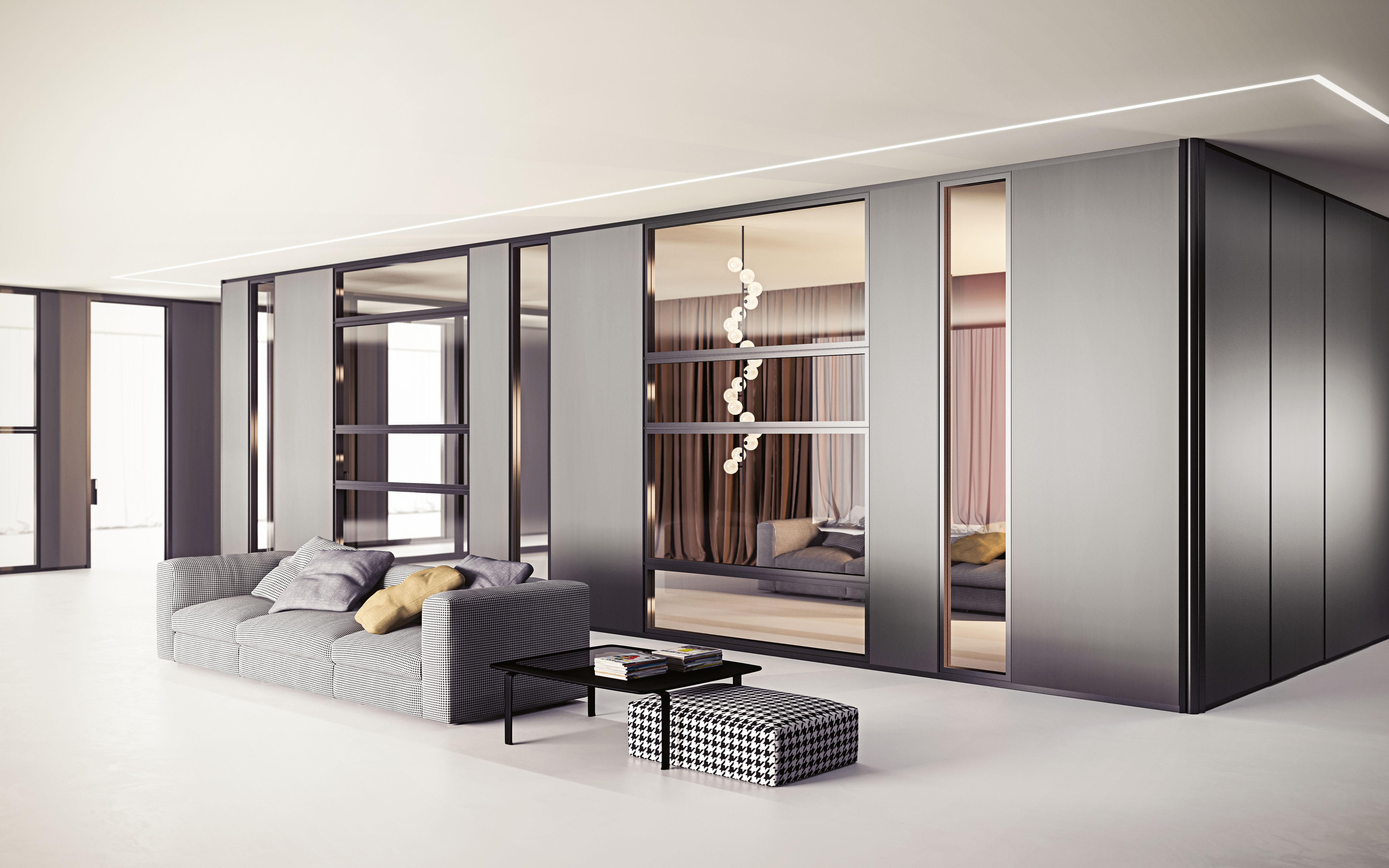 Pareti divisorie in vetro legno arredamento per uffici for Arredo in via cavaliere catania