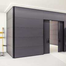 Pareti divisorie in vetro legno arredamento per uffici for Arredo ufficio catania