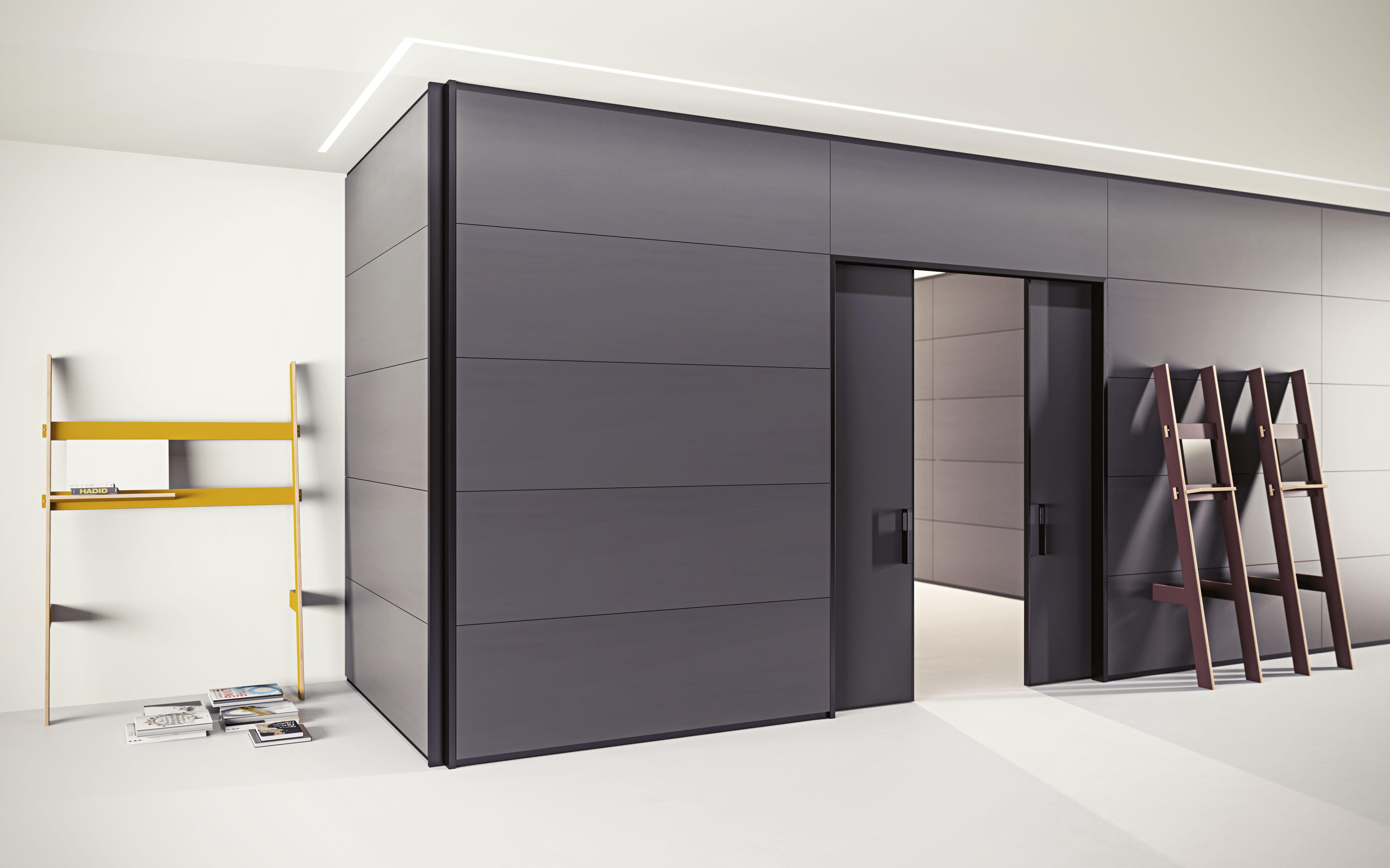 Pareti divisorie in vetro legno arredamento per uffici for Pareti mobili per ufficio